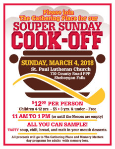 Souper Sunday Cook Off Poster